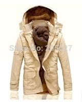 2014 High Quality Brand New Long Winter Jackets Men Wool Hood Winter Coats Men Long Trench Outwear