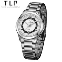 Electronic New 2014 Hot Sales Watches Aqua Dial Full Steel Brand TLP Watch Fashion Casual men's Quartz Watches  Luxury T317