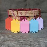 250pcs 5.5*9cm wedding tags Blank colorful DIY Gift packing decoration Hang tags(no rope) scrapbook cards making baking labels