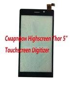 "Original Highscreen Thor 5"" 1920x1080  SmartPhone Touch screen Digitizer Glass Sensor"