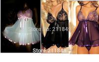 Hot 2014 Plus Size Women Babydoll Large Sexy Lingerie erotic Sleepwear Underwear Dress Rayon
