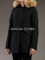 2015 new Best Quality Womens brand W-o-o-l-r-ich Artie Parka Winter medium-long Down Jackets large full fur collar Trekking Coat