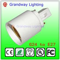 G24 To E27 Socket Base LED Halogen CFL Light Bulb Lamp Adapter Converter Holder