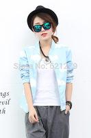 new arrival cool star punk style japan sweet cartoon sky blue cloud cloudy print women female jacket coat spring autumn outwear