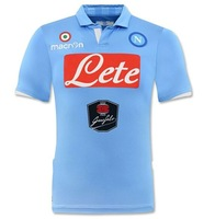 napoli home 14-15 seasons thai  top quality embroidery LOGO soccer jerseys free shipping shirts