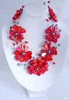 gdhyhrtFx1655WHOLE PRICE !!2014 new fashion handmade  Wedding fashion party jewelry set   necklace new arrival