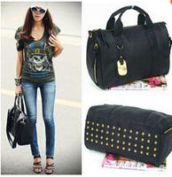Star Products! guaranteed 100% Rivets decoration handbags fashion 2014 new women bags handbag bag free shipping