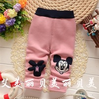Free shipping Autumn and Winter cartoon footprint children thick leggings,baby girls thick leggings pants,girl trousers#ZK786