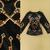 2014 olden Key temperament female T shirt printing casual long-sleeved jacket