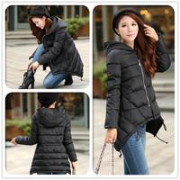 2014 Winter Women Down parka Jacket Short Women Slim Down coat for winter