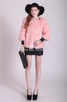 Free shipping fashion luxury fox  fur waistcoat cape colorful  lady  fur short jacket ,Pure color high-grade fur,Made in  Korea