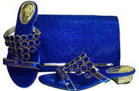 NEW 2014 Italy style  fashion womhen's sandal matching  cluth or bag with crystal for party  CSB6049-2 blue