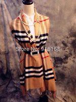 2014 Fall Fashion For Women Silk Scarf Winter Long Tassels Print Plaid Pashmina Desigual Scarves Shawl Lady Apparel Accessories