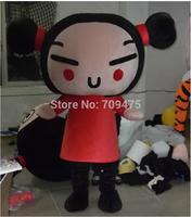 1pcs EMS free shipping EVA Cartoon PUCCA Mascot Animation China Dolls Costumes Walking Performance Novelty Apparel