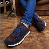 Explosion models men's casual shose  spring letter  frosted Pierces Gan sport  men's running shoes men