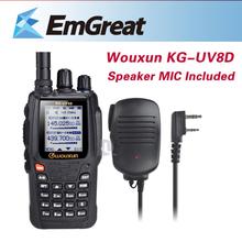 Walkie Talkie WOUXUN KG-UV8D Dual Band Two way Radio 999 Memory Channels + Wouxun Speaker Mic for Kenwood Linton Puxing Weierwei
