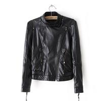 2014 Woman Fashion Jackets Lady Coats Women cardigans Turn-down collar Black S,M,L, D281 New arrival