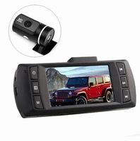 New Dual Camera CAR DVR AT580 FULL HD 1080P With G-Sensor+WDR+148 Degree+Night vision+6G Glass Lens Free Shipping