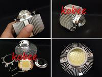 10pcs/lots Round/circular Aluminium Diy Led Heatsink Cooling+100w led chip+led lens Reflector Collimator, reflective cup for Diy