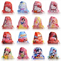 kids gifts  1Pcs Kids Cartoon Drawstring Backpack School Bags 29*22CM,Mixed Hello kitty ,Mickey ,super mario,cars,princess Bags