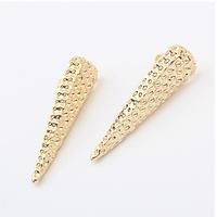 Europe America Big fashion Personalized Punk Metal geometric modeling long triangle Stud Earrings jewelry for women 2014 PT31