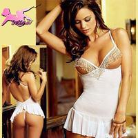 sleepwear Slim Fit Deep V Stripper Tassel sexy underwear Temptation Nightclub Uniforms Pajamas for Women erotic lingerie XDD026