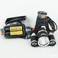 AU XM-L T6 LED 5000LM Waterproof HeadLamp Torch HeadLight Rechargeable Camp Bike