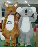 EMS free shipping Cartoon Kangaroo and Koala Mascot Cute Australia Kangaroo Costumes Koala Mascot Performance Novelty Apparel