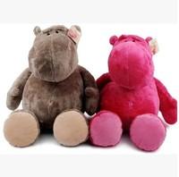 "Hot Sale Big Head Hippo 9.8"" High Quality NICI Plush Toys Stuffed Animal Soft Doll 25cm Baby Kids Gifts Free Shipping"
