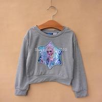 Children T-shirt !  Summer long sleeve T-shirt  frozen elsa  princess cotton blends  tops girls  clothes  ETJ-S0378