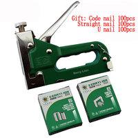 Three functions Strong Durable Manual U Nail Gun with 300pcs Nails