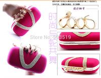 Wedding Bridal Party Ladies Crystal Rhinestone Snake Ring Beaded Evening Clutch,Wallet Shoulder Hand Bags