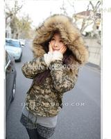 women  winter  short  hooded  jacket