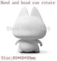 Free shipping 3.5 White Toy ZHUAIMAO DIY Product Toys Cat Painting