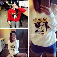 New Fashion 2014 Autumn and Winter Wardrobes Sweatshirt Cute  Scissorhands CASUAL Long-sleeved Sweatshirt Women Hoody