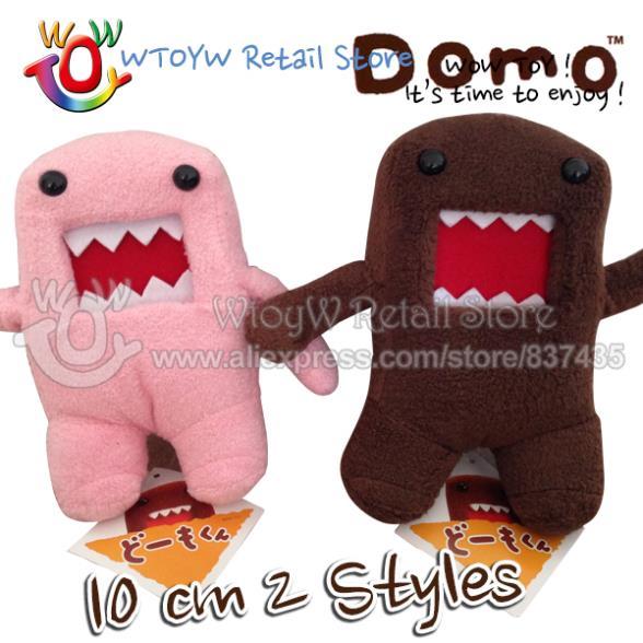 1 piece free shipping 10 cm 2 color domo kun anime dolls plush toy plush baby toy kawaii toy boneca pelucia brinquedos girl(China (Mainland))