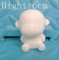 Free shipping 10pcs/lot 6CM White Toy Paul Homme DIY Product Toys Monkey Painting