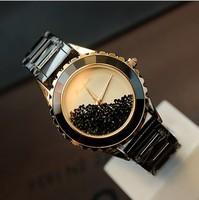 Gift box free 100% Full Ceramic Diamond Quartz Watch for Women 2014 Hot Fashion  Luxury Design women Dress Watch Freeshipping