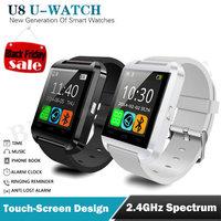 Bluetooth Smartwatch WristWatch U8 Smart Watch for iPhone 4S/5/5S/6 Samsung S4 Android Phone Smartphones Passometer Music Calls