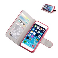 Wholesale New Magnetic Flip Folio Credit Card Slot Holder PU Leather Wallet Stand Case Cover For iPhone 6 6 Colors Free Shipping
