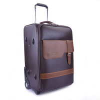 Polo Brave Business,commercial, red,brown,PU leather,fixed caster travel bag luggage,designer luggage