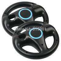2pcs Free shipping Racing Games Steering Wheel For Nintendo Wii Mario Kart