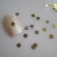 MS-322-2 Free Shipping Metal Gold Snowflake Nail Art Metal Sticker Nail Art Decoration Fancy Outlooking