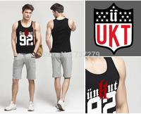 Wholesale Tank Top Unkut Undershirt Men Singlet Letters Printed Vest Sleeveless Bodybuilding Cothes