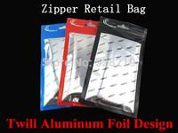 10*18cm Clear + Aluminum Foil Zipper Retail Package Packaging Plastic Bag Pouch For iPhone 4 4S 5 5S 5C Case Cover Accessories