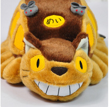 "Hot Anime Studio Ghibli My Neighbor Totoro Cat Bus Stuffed Plush Doll- 12"" 300mm Filled Plush(China (Mainland))"