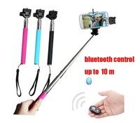 Expandable Self Portrait Selfie Stick with bluetooth controler Handheld Monopod for cellphones z07-1 120 sets free ship DHL