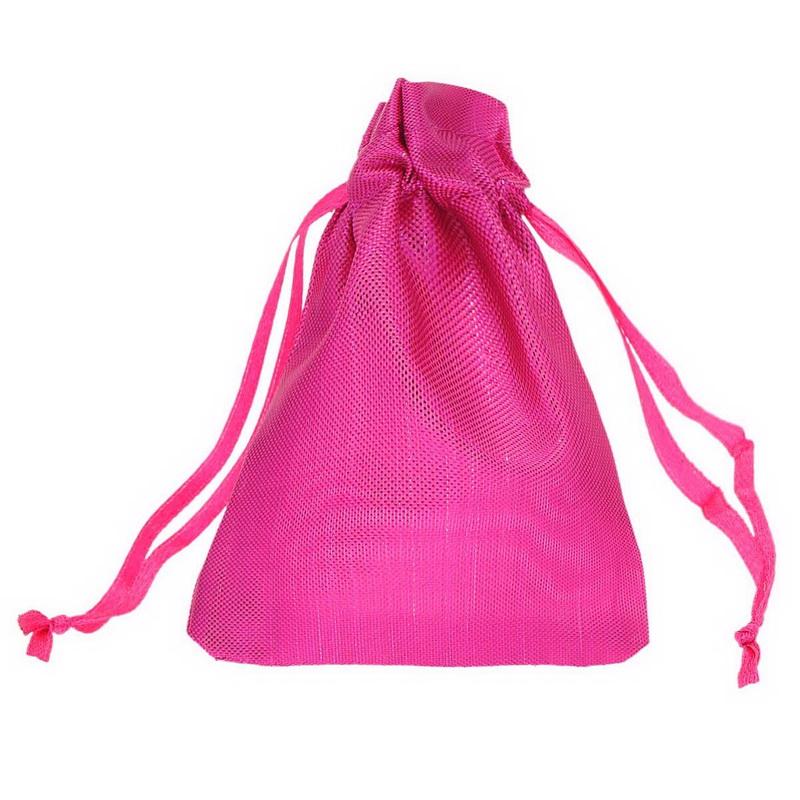 2015 Hot Jewelry Packing Pouch 25Pcs Fuchsia 13x18cm Wedding X-mas Favor Gift Bags(China (Mainland))