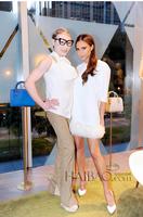 2014 Autumn Star V.B The Same Design Jacquard Three Quarter Sleeve Fur Hem White Dress High Quality Autumn Dress Dropshipping