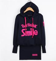 2014 autumn and winter new style fleece hoodies long sleeve women's hoodies  thicken hoodies dress  free shipping